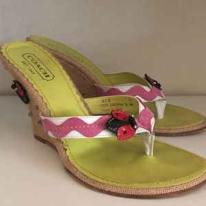 Coach Limited Edition Ladybug Wedges